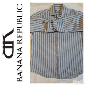 Men's Banana Republic multi strips long sle